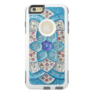 Funda Otterbox Para iPhone 6/6s Plus Azules turquesas marroquíes tradicionales, blanco,