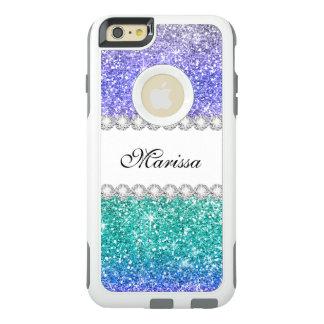 Funda Otterbox Para iPhone 6/6s Plus Chispas elegantes púrpuras del purpurina del verde