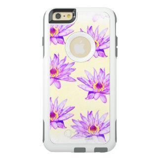 Funda Otterbox Para iPhone 6/6s Plus crema de las flores de loto manchada de tinta
