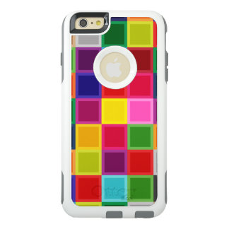 Funda Otterbox Para iPhone 6/6s Plus Cuadrados coloreados multi femeninos