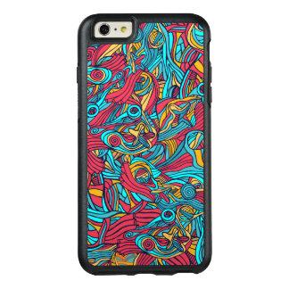 Funda Otterbox Para iPhone 6/6s Plus Diseño abstracto dibujado mano colorida del modelo