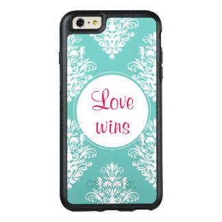 Funda Otterbox Para iPhone 6/6s Plus El amor gana el caso de OtterBox del damasco