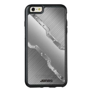 Funda Otterbox Para iPhone 6/6s Plus El gris de plata metalizada cepilló el monograma