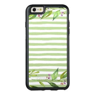 Funda Otterbox Para iPhone 6/6s Plus El verde intrépido del arte de la acuarela raya