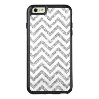 Funda Otterbox Para iPhone 6/6s Plus El zigzag de plata del brillo raya el modelo de