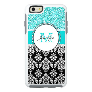 Funda Otterbox Para iPhone 6/6s Plus Femenino, trullo, brilla el damasco negro