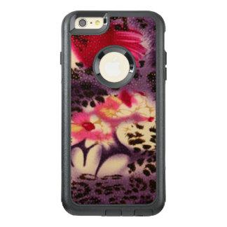 Funda Otterbox Para iPhone 6/6s Plus Flores rosadas y diseño del leopardo