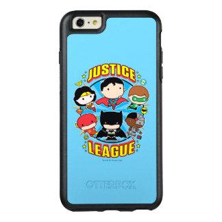 Funda Otterbox Para iPhone 6/6s Plus Grupo de la liga de justicia de Chibi
