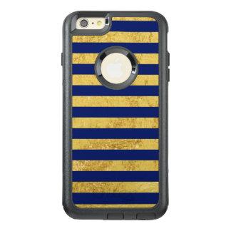 Funda Otterbox Para iPhone 6/6s Plus Hoja de oro elegante y modelo de la raya azul