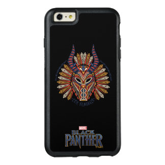 Funda Otterbox Para iPhone 6/6s Plus Icono tribal negro de la máscara de la pantera el