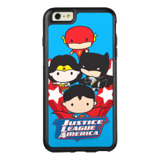 Funda Otterbox Para iPhone 6/6s Plus Liga de justicia de Chibi de las estrellas de