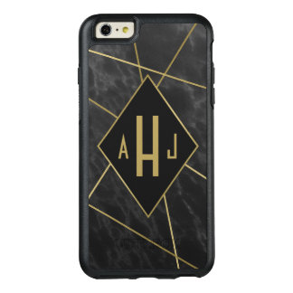 Funda Otterbox Para iPhone 6/6s Plus Líneas geométricas y falso monograma de mármol