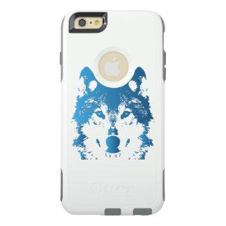 Funda Otterbox Para iPhone 6/6s Plus Lobo de los azules claros del ilustracion