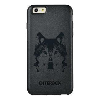 Funda Otterbox Para iPhone 6/6s Plus Lobo negro del ilustracion