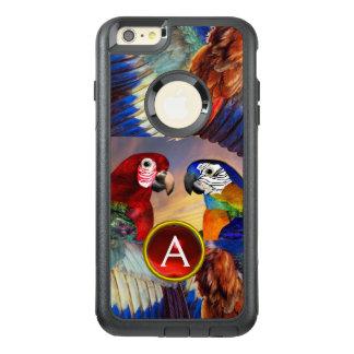 FUNDA OTTERBOX PARA iPhone 6/6S PLUS LOROS HÍPERES /RED Y MONOGRAMA AZUL DE LA PIEDRA