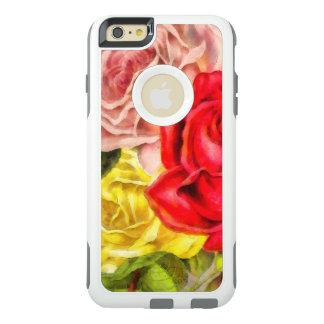 Funda Otterbox Para iPhone 6/6s Plus Manojo de acuarela de los rosas