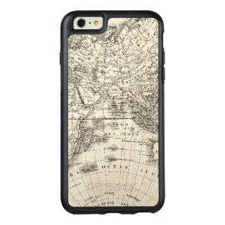Funda Otterbox Para iPhone 6/6s Plus Mapa del vintage de Europa y de Asia