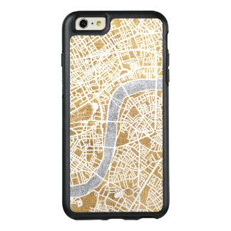 Funda Otterbox Para iPhone 6/6s Plus Mapa dorado de la ciudad de Londres
