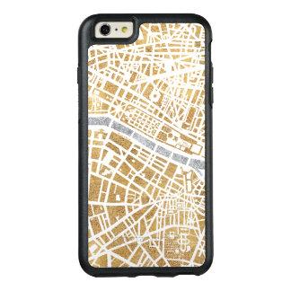 Funda Otterbox Para iPhone 6/6s Plus Mapa dorado de la ciudad de París