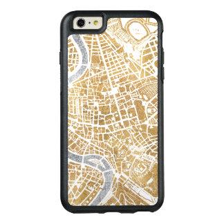 Funda Otterbox Para iPhone 6/6s Plus Mapa dorado de la ciudad de Roma