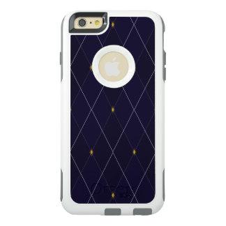 Funda Otterbox Para iPhone 6/6s Plus Marina de guerra brillante Argyle del diamante