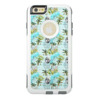 Funda Otterbox Para iPhone 6/6s Plus Modelo abstracto de la palmera de la acuarela