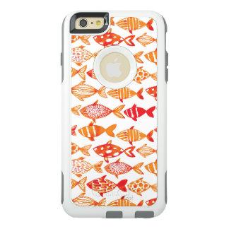 Funda Otterbox Para iPhone 6/6s Plus Modelo anaranjado brillante de los pescados de la