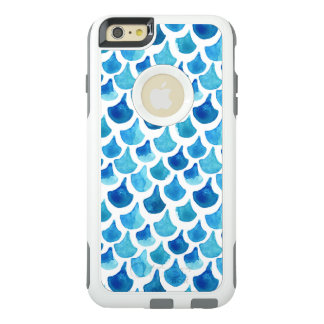 Funda Otterbox Para iPhone 6/6s Plus Modelo azul de la escala de la acuarela