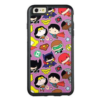 Funda Otterbox Para iPhone 6/6s Plus Modelo de la liga de justicia de Chibi en púrpura
