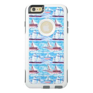 Funda Otterbox Para iPhone 6/6s Plus Modelo de los veleros de la acuarela