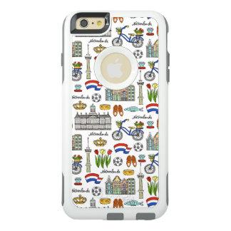 Funda Otterbox Para iPhone 6/6s Plus Modelo del Doodle de Netherland