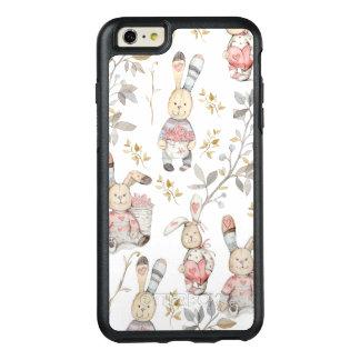 Funda Otterbox Para iPhone 6/6s Plus Modelo lindo de la acuarela de los conejitos de