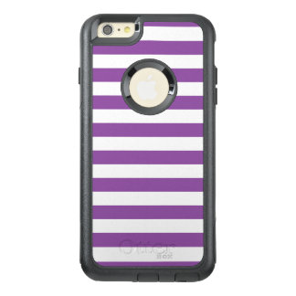 Funda Otterbox Para iPhone 6/6s Plus Modelo púrpura y blanco de la raya