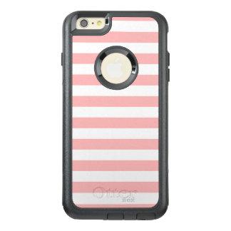 Funda Otterbox Para iPhone 6/6s Plus Modelo rosado y blanco de la raya
