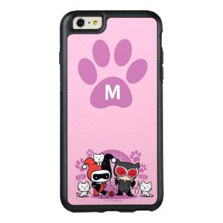 Funda Otterbox Para iPhone 6/6s Plus Monograma Chibi Harley Quinn y Catwoman con los