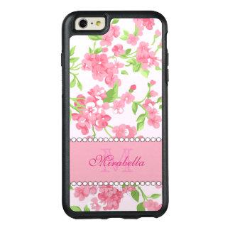 Funda Otterbox Para iPhone 6/6s Plus Nombre de ramas rosado del flor de la acuarela de