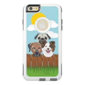 Funda Otterbox Para iPhone 6/6s Plus Perros afortunados del ilustracion en una cerca de