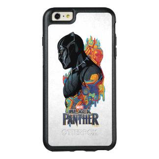 Funda Otterbox Para iPhone 6/6s Plus Pintada tribal de la pantera negra de la pantera