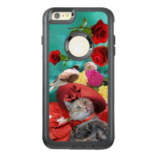 FUNDA OTTERBOX PARA iPhone 6/6S PLUS PRINCESA TATUS, RED HAT DEL CAT DE LA CELEBRIDAD