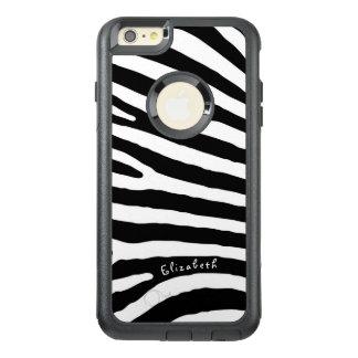 Funda Otterbox Para iPhone 6/6s Plus Rayas del modelo de la cebra, negras y blancas, su