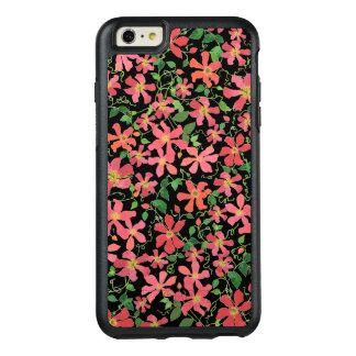 Funda Otterbox Para iPhone 6/6s Plus Rosa del Clematis, rojo, estampado de flores