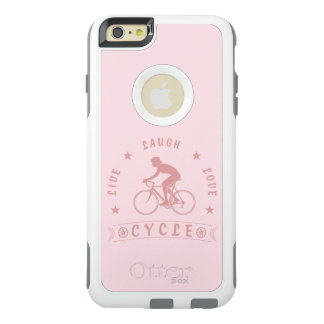 Funda Otterbox Para iPhone 6/6s Plus Texto de Live Laugh Love Cycle de señora (rosa)
