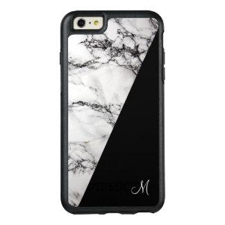 Funda Otterbox Para iPhone 6/6s Plus Textura de piedra de mármol gris del monograma y
