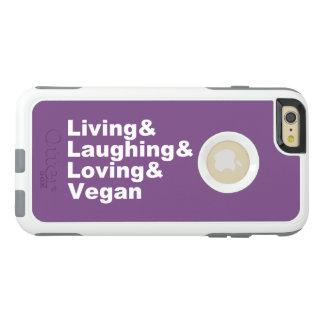 Funda Otterbox Para iPhone 6/6s Plus Vida y risa y amor y vegano (blancos)