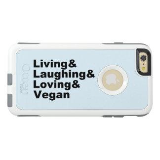 Funda Otterbox Para iPhone 6/6s Plus Vida y risa y amor y vegano (negro)