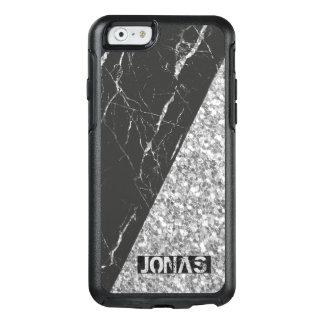 Funda Otterbox Para iPhone 6/6s Purpurina de plata moderno y piedra de mármol