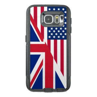 Funda OtterBox Para Samsung Galaxy S6 Americano y bandera de Union Jack