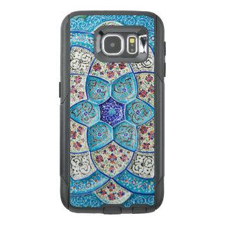 Funda OtterBox Para Samsung Galaxy S6 Azules turquesas marroquíes tradicionales, blanco,