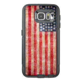 Funda OtterBox Para Samsung Galaxy S6 Bandera americana envejecida