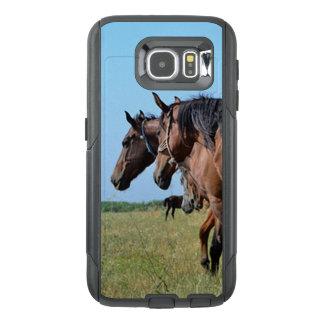 Funda OtterBox Para Samsung Galaxy S6 Caballos de bahía hermosos